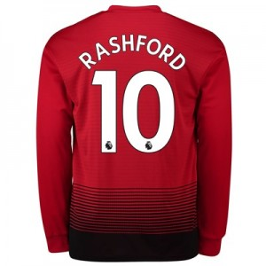 Manchester United Home Shirt 2018-19 - Long Sleeve with Rashford 10 printing