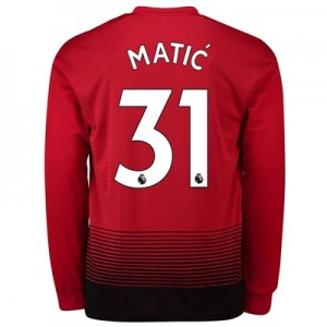 Manchester United Home Shirt 2018-19 - Long Sleeve with Matic 31 printing