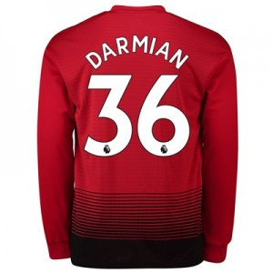 Manchester United Home Shirt 2018-19 - Long Sleeve with Darmian 36 printing