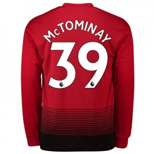 Manchester United Home Shirt 2018-19 - Long Sleeve with McTominay 39 printing