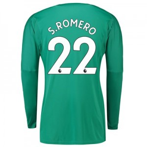 Manchester United Home Goalkeeper Shirt 2018-19 with S.Romero 22 printing