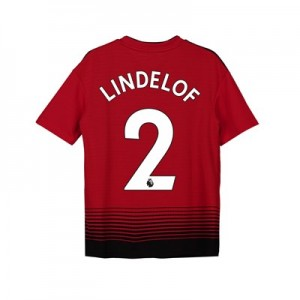 Manchester United Home Shirt 2018-19 - Kids with Lindelof 2 printing