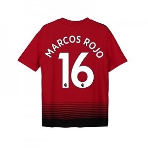 Manchester United Home Shirt 2018-19 - Kids with Marcos Rojo 16 printing
