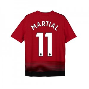 Manchester United Home Shirt 2018-19 - Kids with Martial 11 printing