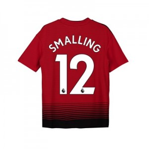 Manchester United Home Shirt 2018-19 - Kids with Smalling 12 printing