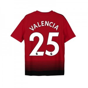 Manchester United Home Shirt 2018-19 - Kids with Valencia 25 printing