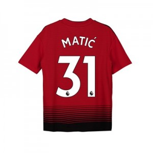 Manchester United Home Shirt 2018-19 - Kids with Matic 31 printing