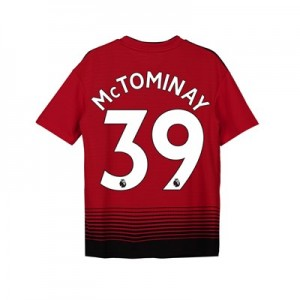 Manchester United Home Shirt 2018-19 - Kids with McTominay 39 printing