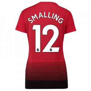 Manchester United Home Shirt 2018-19 - Womens with Smalling 12 printing