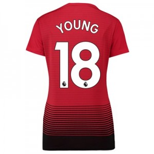 Manchester United Home Shirt 2018-19 - Womens with Young 18 printing