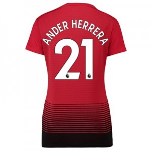 Manchester United Home Shirt 2018-19 - Womens with Ander Herrera 21 printing