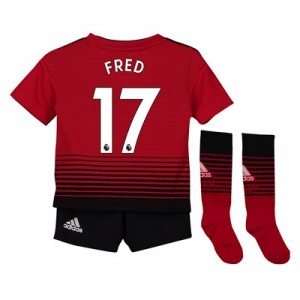 Manchester United Home Mini Kit 2018-19 with Fred 17 printing
