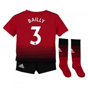 Manchester United Home Mini Kit 2018-19 with Bailly 3 printing