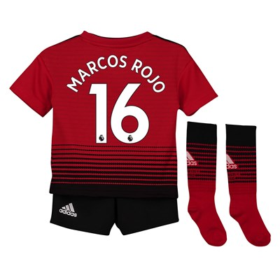 Manchester United Home Mini Kit 2018-19 with Marcos Rojo 16 printing