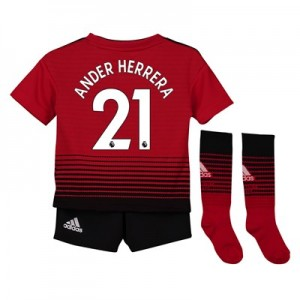 Manchester United Home Mini Kit 2018-19 with Ander Herrera 21 printing