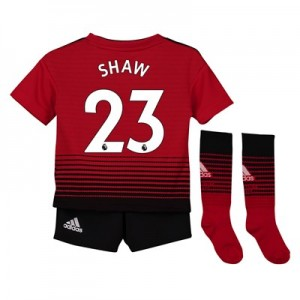 Manchester United Home Mini Kit 2018-19 with Shaw 23 printing