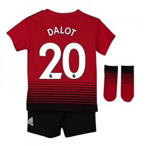 Manchester United Home Baby Kit 2018-19 with Dalot 20 printing