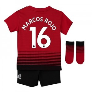 Manchester United Home Baby Kit 2018-19 with Marcos Rojo 16 printing