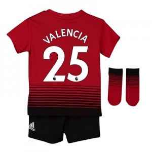 Manchester United Home Baby Kit 2018-19 with Valencia 25 printing