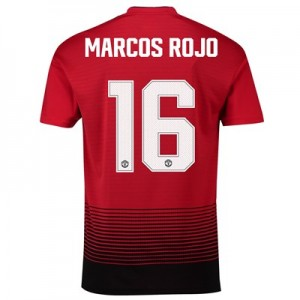 Manchester United Home Cup Shirt 2018-19 with Marcos Rojo 16 printing