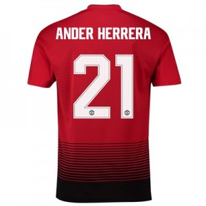 Manchester United Home Cup Shirt 2018-19 with Ander Herrera 21 printing