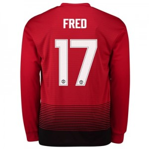 Manchester United Home Cup Shirt 2018-19 - Long Sleeve with Fred 17 printing