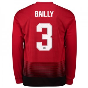 Manchester United Home Cup Shirt 2018-19 - Long Sleeve with Bailly 3 printing