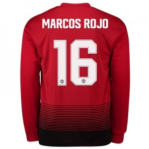 Manchester United Home Cup Shirt 2018-19 - Long Sleeve with Marcos Rojo 16 printing