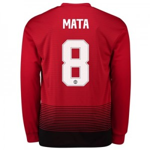 Manchester United Home Cup Shirt 2018-19 - Long Sleeve with Mata 8 printing