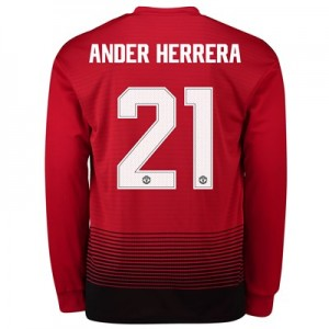 Manchester United Home Cup Shirt 2018-19 - Long Sleeve with Ander Herrera 21 printing