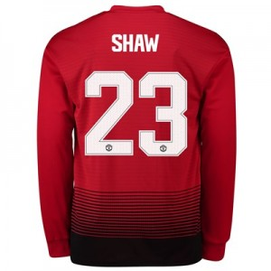 Manchester United Home Cup Shirt 2018-19 - Long Sleeve with Shaw 23 printing