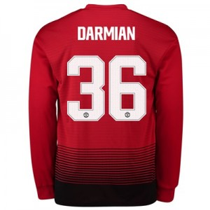 Manchester United Home Cup Shirt 2018-19 - Long Sleeve with Darmian 36 printing