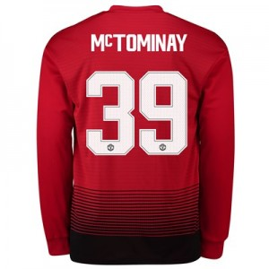 Manchester United Home Cup Shirt 2018-19 - Long Sleeve with McTominay 39 printing