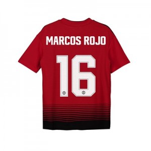 Manchester United Home Cup Shirt 2018-19 - Kids with Marcos Rojo 16 printing