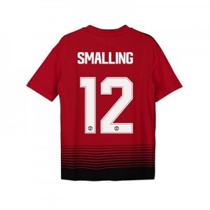 Manchester United Home Cup Shirt 2018-19 - Kids with Smalling 12 printing