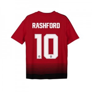 Manchester United Home Cup Shirt 2018-19 - Kids with Rashford 10 printing