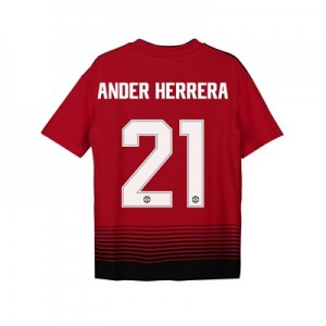 Manchester United Home Cup Shirt 2018-19 - Kids with Ander Herrera 21 printing