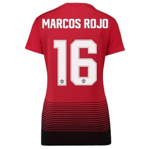 Manchester United Home Cup Shirt 2018-19 - Womens with Marcos Rojo 16 printing