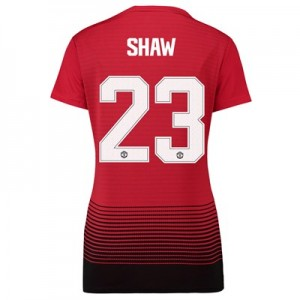 Manchester United Home Cup Shirt 2018-19 - Womens with Shaw 23 printing