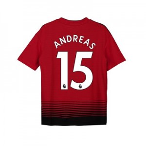 Manchester United Home Shirt 2018-19 - Kids with Andreas 15 printing