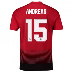 Manchester United Home Cup Shirt 2018-19 with Andreas 15 printing