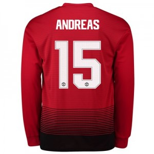 Manchester United Home Cup Shirt 2018-19 - Long Sleeve with Andreas 15 printing