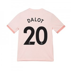 Manchester United Away Shirt 2018-19 - Kids with Dalot 20 printing