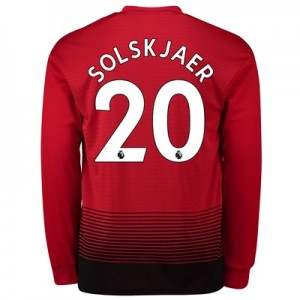 Manchester United Home Shirt 2018-19 - Long Sleeve with Solskjaer 20 printing