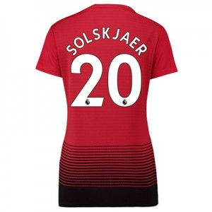 Manchester United Home Shirt 2018-19 - Womens with Solskjaer 20 printing