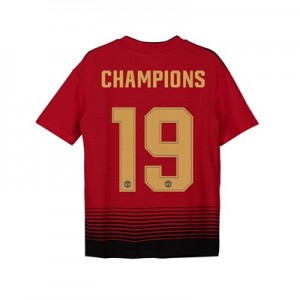 Manchester United Home Cup Shirt 2018-19 - Kids with Champions 19 printing
