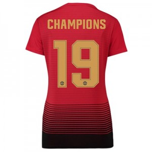 Manchester United Home Cup Shirt 2018-19 - Womens with Champions 19 printing