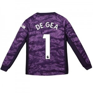 Manchester United Home Goalkeeper Shirt 2019 - 20 - Kids with De Gea 1 printing