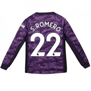 Manchester United Home Goalkeeper Shirt 2019 - 20 - Kids with S.Romero 22 printing