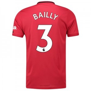 Manchester United Home Shirt 2019 - 20 with Bailly 3 printing